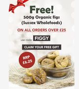 Free 500g Organic Figs - For A Limited Time Only On Orders Over £25!
