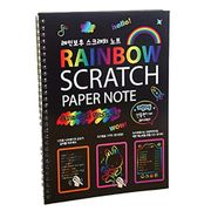 Sisaki DIY Children Scratching Painting Colorful Drawing Art Paper Book Doodle