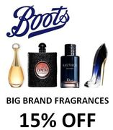 Big Brand Fragrances - Dior, Chanel, YSL, Tom Ford Etc - 15% off at Boots