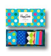 Happy Socks, Colourful Premium Sock Gift Box for Men and Women (Pack of 4)