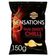 Offer - Walkers Sensations Thai Sweet Chilli Crisps 150g