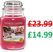 AMAZON DEAL OF THE DAY - Yankee Candle Large Jar - FROSTY GINGERBREAD