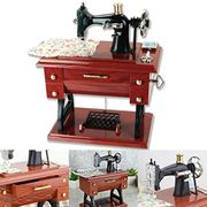 Adorable Vintage Mini Sewing Machine Musical Box
