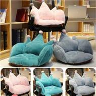 Damnef Fashion Soft Crown Shape Solid Thickening Cushion Seat Cushion Cushions