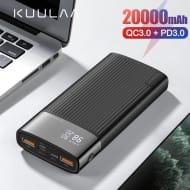 KUULAA Power Bank 20000mAh USB Type C PD Fast Charging Quick Charge 3.0
