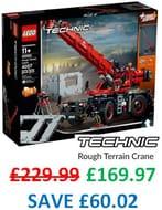 SAVE £60! LEGO TECHNIC - Rough Terrain Crane - 42082 (4,000+ Pieces)