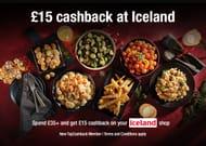 £15 Cashback on a £35+ Spend at Iceland