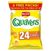 Walkers Quavers Cheese 24 X 16g - Save £1.50!