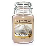 Yankee Candle Large Jar Scented Candle, Warm Cashmere, up to 150 Hours Burn Time