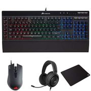 Corsair K55 RGB Membrane Gaming Keyboard with Optical Gaming Mouse