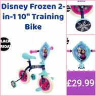 """Disney Frozen 2-in-1 10"""" Training Bike"""