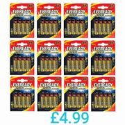 Eveready Gold AA Batteries Bundle 12 X 4 (48 Total) Limited Stock Offer!