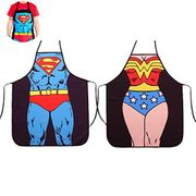 Superman + Wonder Woman 2 Pieces of Aprons, FREE DELIVERY
