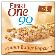 Fibre One Peanut Butter Popcorn Bars 4 X 21G