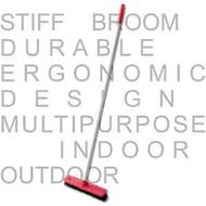 Kleaner Sweeping Brush Head Stiff Indoor Outdoor Broom Handle Yard Sweeper 1m