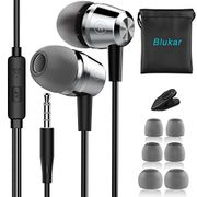 Earphones, Blukar In-Ear Headphones Earphones with High Sensitivity Microphone
