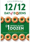 Buy Any Krispy Kreme Dozen and Get an Original Glazed Dozen for £1 12/12