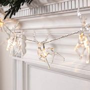 White Reindeer LED String Lights with Timer - Cute! Save £4!