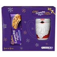 Cadbury Crunchy Melts Cookie 156G & Christmas Mug Set