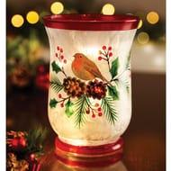 Hurricane Vase with Lights