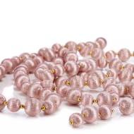 Pink Silk Bauble Garland - HALF PRICE