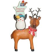Christmas Woodland Animal Tower - Seasons Greetings