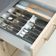 Cooke & Lewis Stainless Steel Effect Utensil Tray (W)450mm