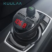 KUULAA Car Charger with FM Transmitter 3.4A Dual USB Car Phone Charger