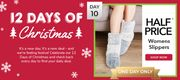 50% off Womans Slippers Instore and Online at Peacocks