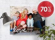 70% off Slim Canvas Prints*