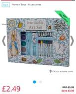 Peter Rabbit Window Art Set Blue