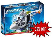 PLAYMOBIL City Action Police Helicopter with LED Searchlight *4.8 STARS*