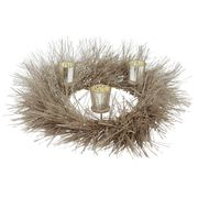 Christmas Candle and Wreath Centrepiece