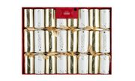 8 George Home Premium Gold & Cream Tree Crackers