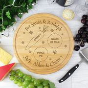 Personalised Christmas Eve round Treats Board - Save £5!