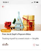 Free Mini Gift Box of Popcorn Bites from Joe & Sephs Pay Delivery
