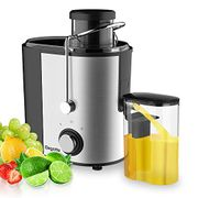 Juicer, Bagotte Juicers Whole Fruit and Vegetable Easy Clean, Stainless Steel