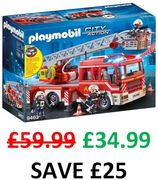 SAVE £25 - Playmobil Fire Ladder Unit (With Extendable Ladder) *4.7 STARS*