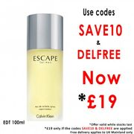 Calvin Klein Escape for Men Eau De Toilette 100ml £19 Delivered(see Thread)