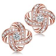 Women Stud Earrings, 925 Sterling Silver, 5A Cubic Zirconia