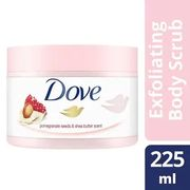 Dove Exfoliating Body Scrub Pomegranate Seeds 225ml