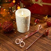 LANGRIA Scented Candles Gift Set in Lace Pattern Cup