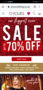 Up to 70% off Sale!