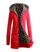 Ladies Casual Hooded Long Sleeve Zipper Jacket