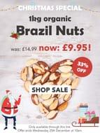 Organic Brazil Nuts 1kg under £10!