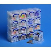 Really Useful Box 16 X 0.14L Box Organiser, Clear (Package 16 Each) Only £4.8