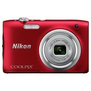 Nikon Coolpix A100 20MP 5x Zoom Compact Camera - Red