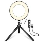 Lindames Broadcast Live Photography Fill Light LED Camera Phone Flash Dimmable