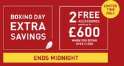 Boxing Day Extra Savings Ends Midnight