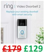 Ring Video Doorbell 2 | HD Video, Two-Way Talk, Wi-Fi Connected